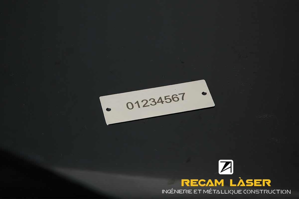 Grave au laser